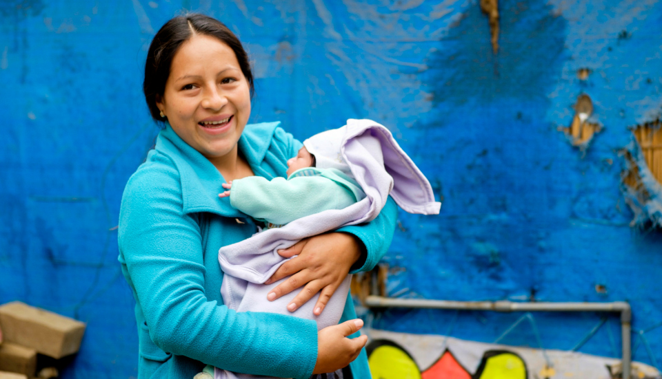 Peruvian mother and baby