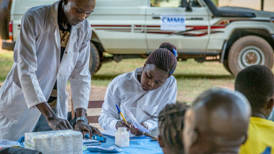 Health workers at Yambio ARV clinic, provide thousands of HIV+ patients with necessary medication.
