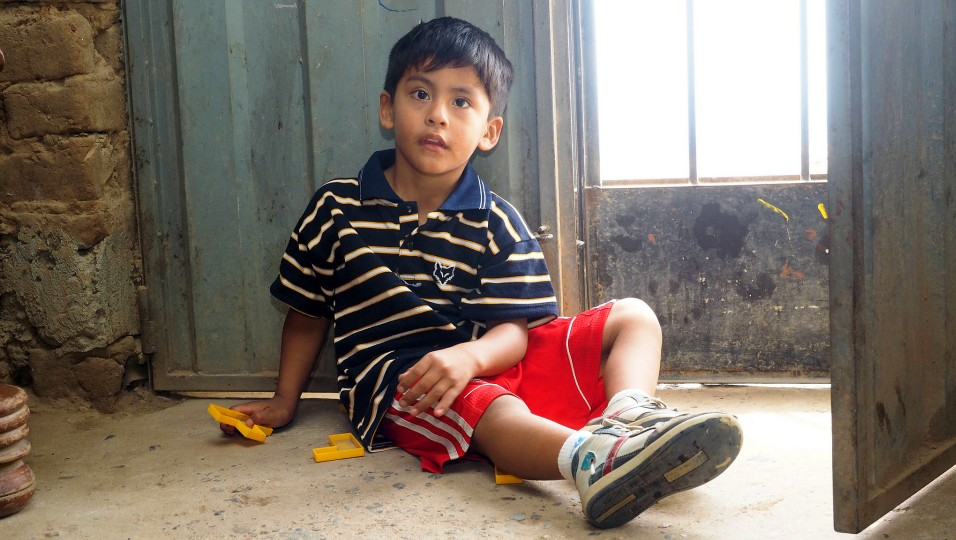 Juan has cerebral palsy. After two years of committed therapy, he is now walking and talking.