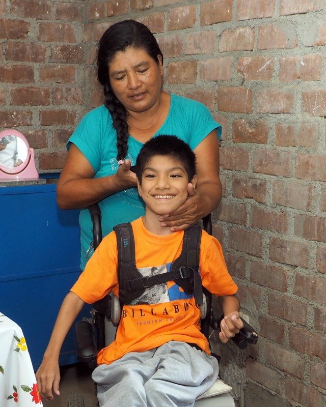 Raul lives with disabilities and in extreme poverty in Peru