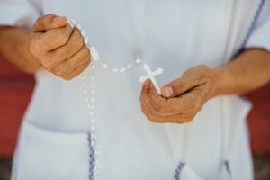 Sister with rosary