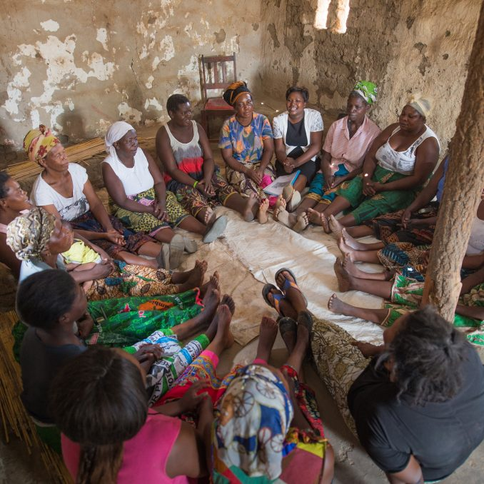 women in community in Zambia