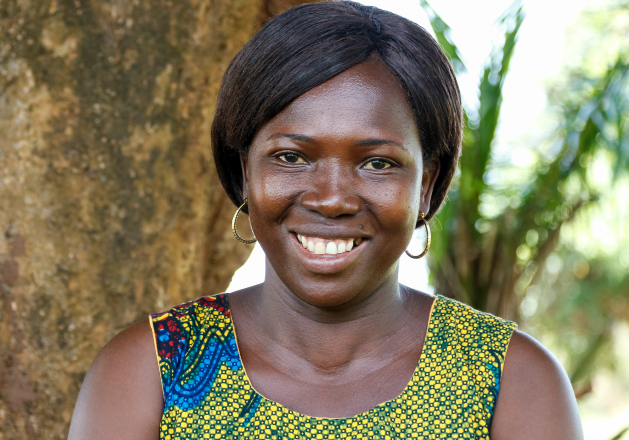 Nora, a CMMB HIV/AIDS Counselor in Nzara, South Sudan.