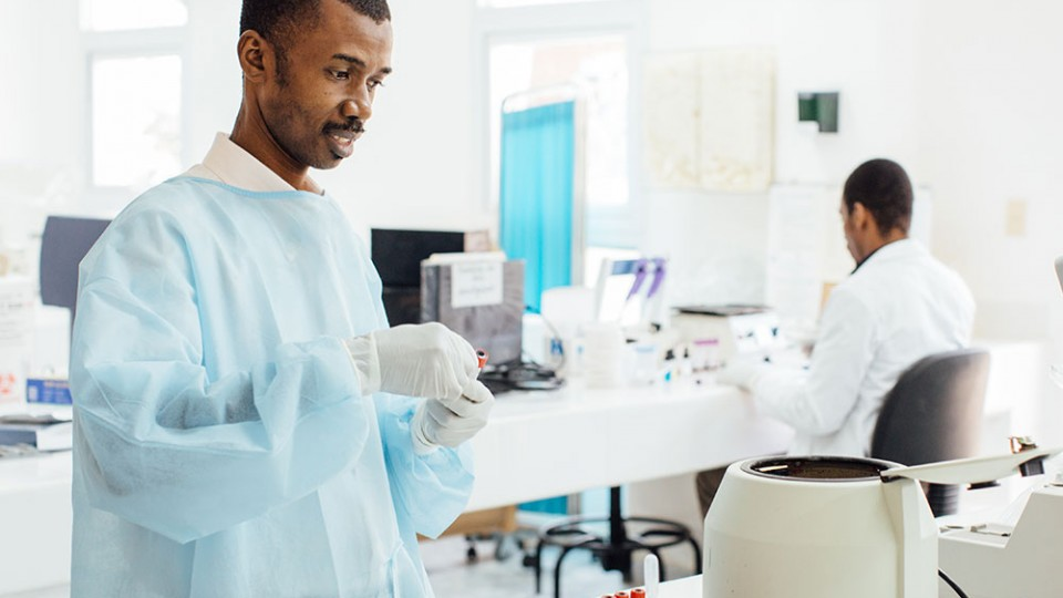 Haiti lab HIV partnership
