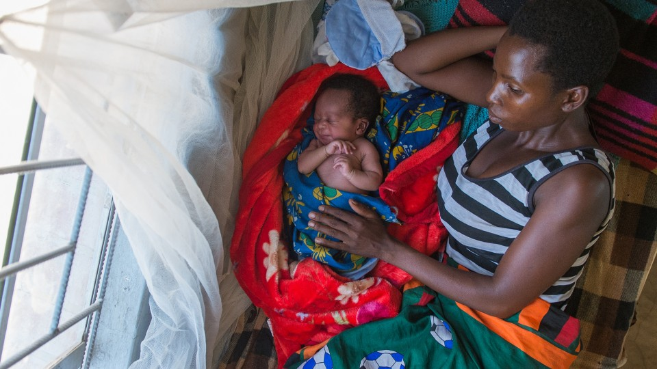 woman and child in Zambia