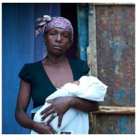 Images of people from South Sudan and Haiti