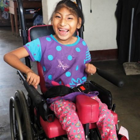 Ericka in Trujillo Peru. She is in a wheelchair.