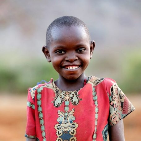 Child in Kenya needs food and water.