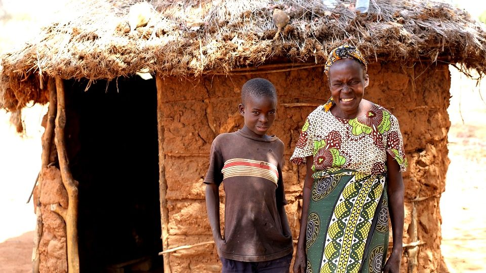Ruth and her son, Rural Kenya