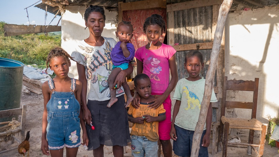 Family living in poverty needs help.