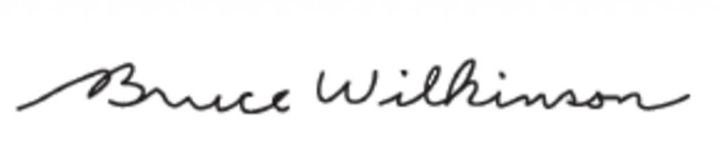 Bruce Wilkinson signature