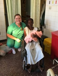 Nurse Laura Kyriss volunteer kenya newborn baby and mom