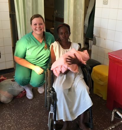 Nurse Laura Kyriss volunteer kenya newborn baby and mom, - 'volunteer opportunities for nurses'
