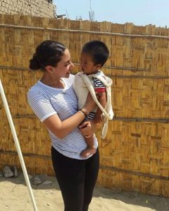 Sama El Baz public health volunteer in Trujillo, Peru thanksgiving, 1000 days and anemia project