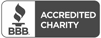 Accredited charity logo from BBB