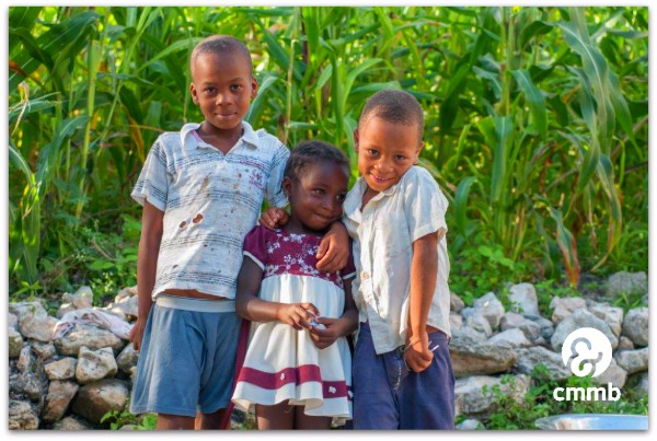 2 brothers and their younger sister in Cotes-de-Fer, Haiti