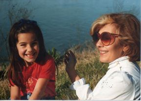 A younger Marcia with her mom