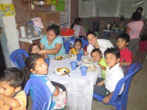 Sama and her mom in Peru