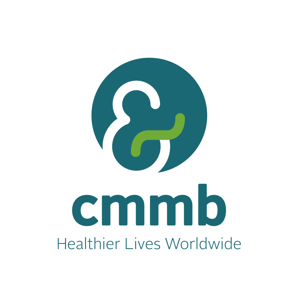 Logo for CMMB - Healthier Lives Worldwide, a long-time Catholic charity