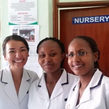 Anne is a nurse in Kenya - 'apply to be a nurse volunteers'