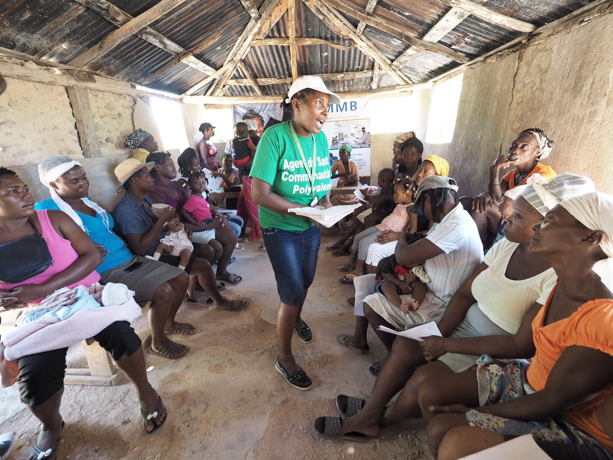 Rosaline Felisna , Community health Worker leading a Mother's Club in Cote de Fer Côtes-de-Fer