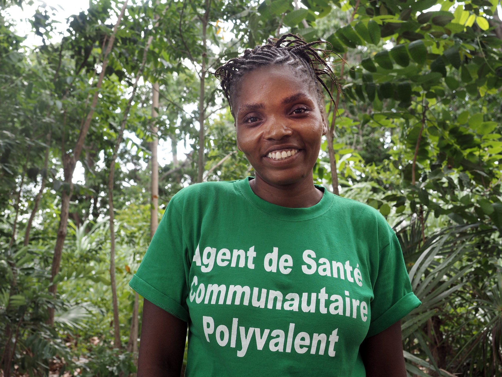 Souffrilene Descolline, Community Health Worker with CMMB, is believed by the 200 women she helps in Cote de Fer