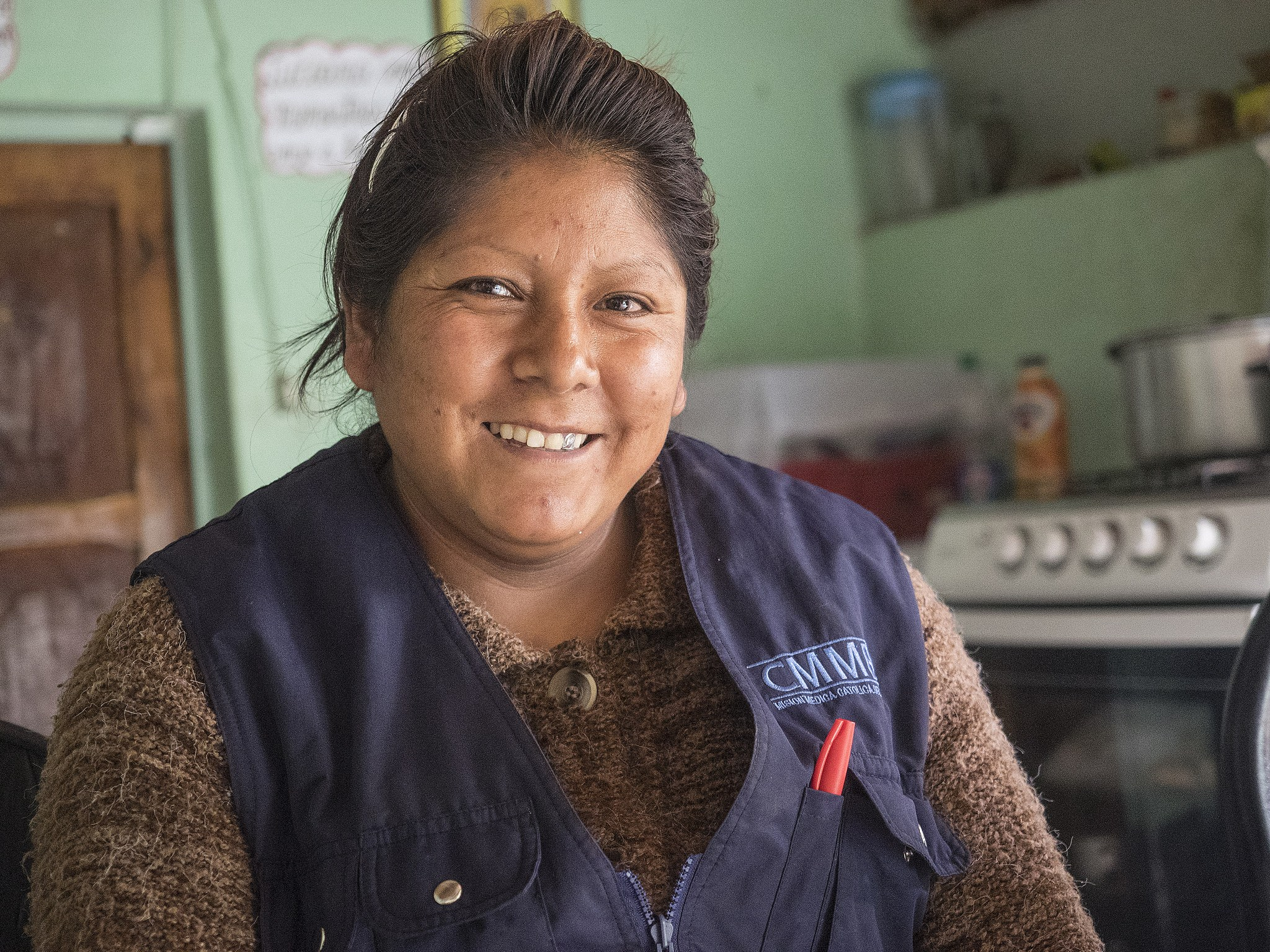 Community Health Worker, Sara, Offers her home as a place as a health center for her community. She ensures that boys and girls receive iron supplements to reduce anemia.