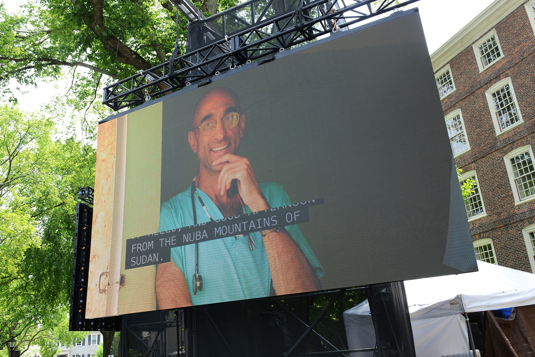 N A BREAK FROM PROTOCOL THOMAS CATENA '86 IN LONG DISTANCE SKYPE LINK ACCEPTING HIS HONORARY DEGREE Brown University's 248th Commencement, May 29, 2016. The ceremony concludes Brown's three-day Commencement and Reunion Weekend, which brings more than 10,000 people to College Hill.
