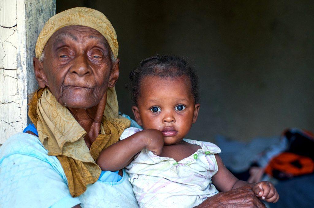 Darline and grandma_Haiti
