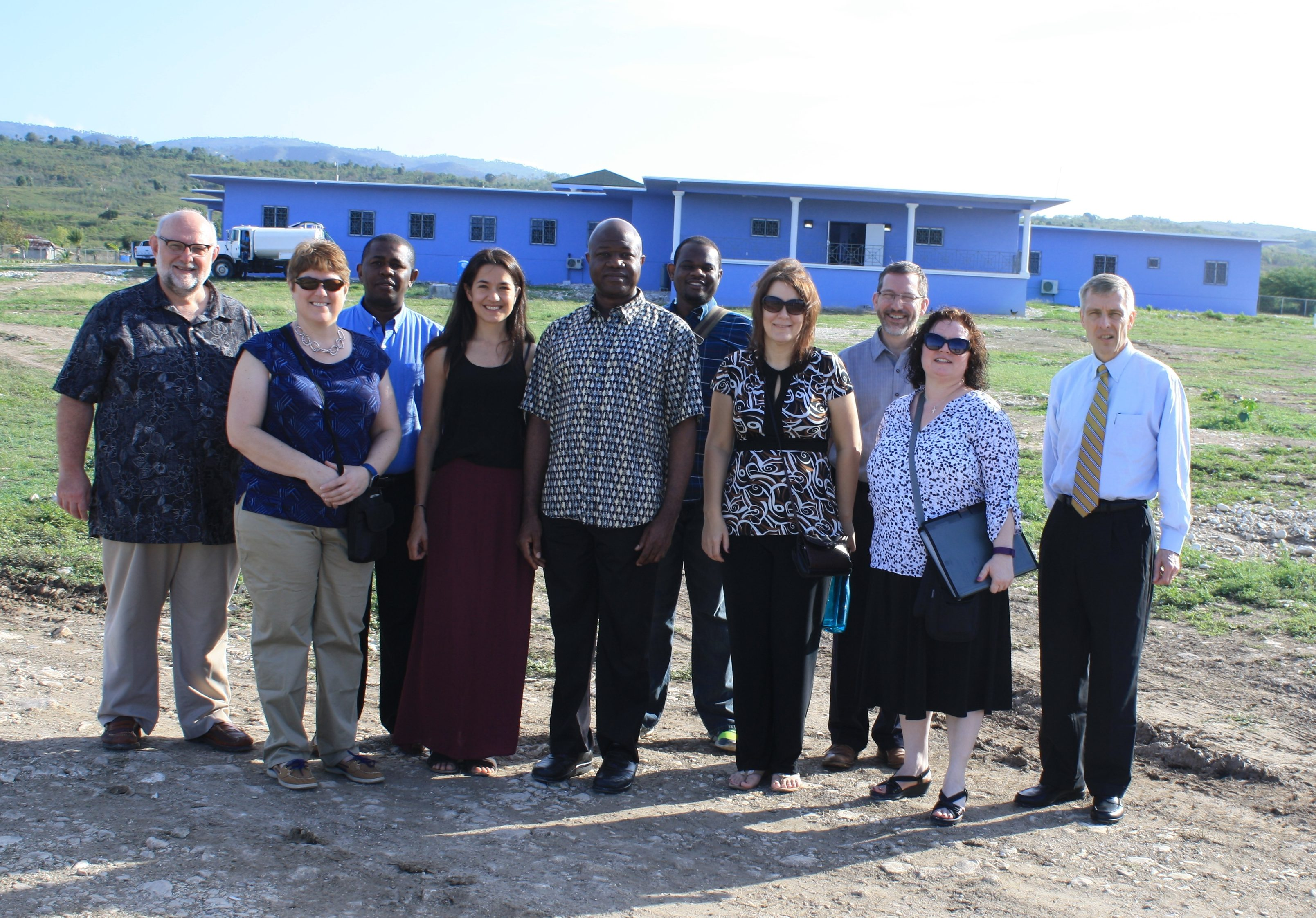 Mercy health mission team outside the hospital in Haiti.