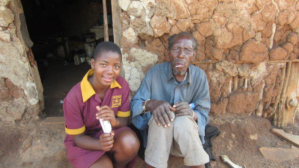 Mkhulu Jeje and Lungile, Kathleen Hartmann, Home Based Care, HBC