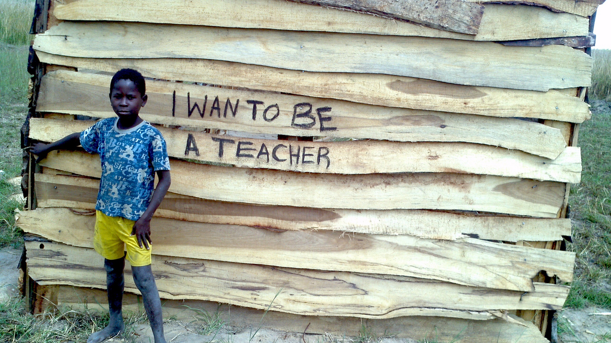 A child in zambia shares what he wants to be when he grows up