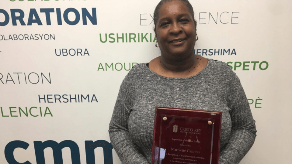 Marivette Cannon supervisor of the year
