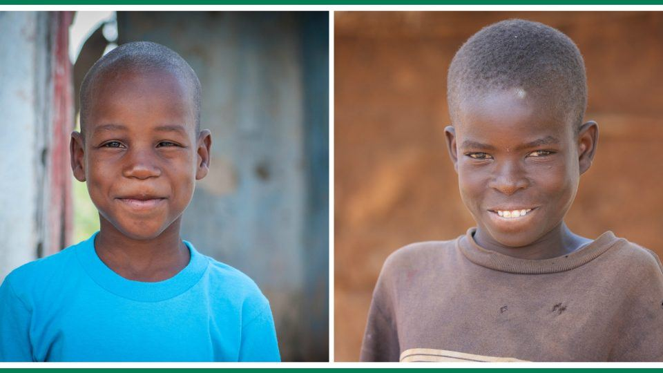 children smiling for photo. smiles