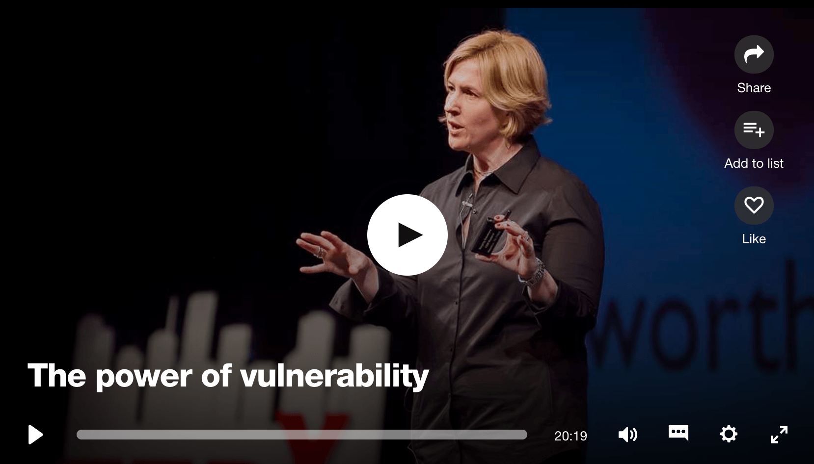brene brown ted talk vulnerability