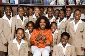 Oprah with her Leadership Academy for Girls in South Africa