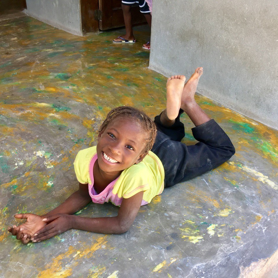 One of our angels in Haiti. Michelene is in grade 2.