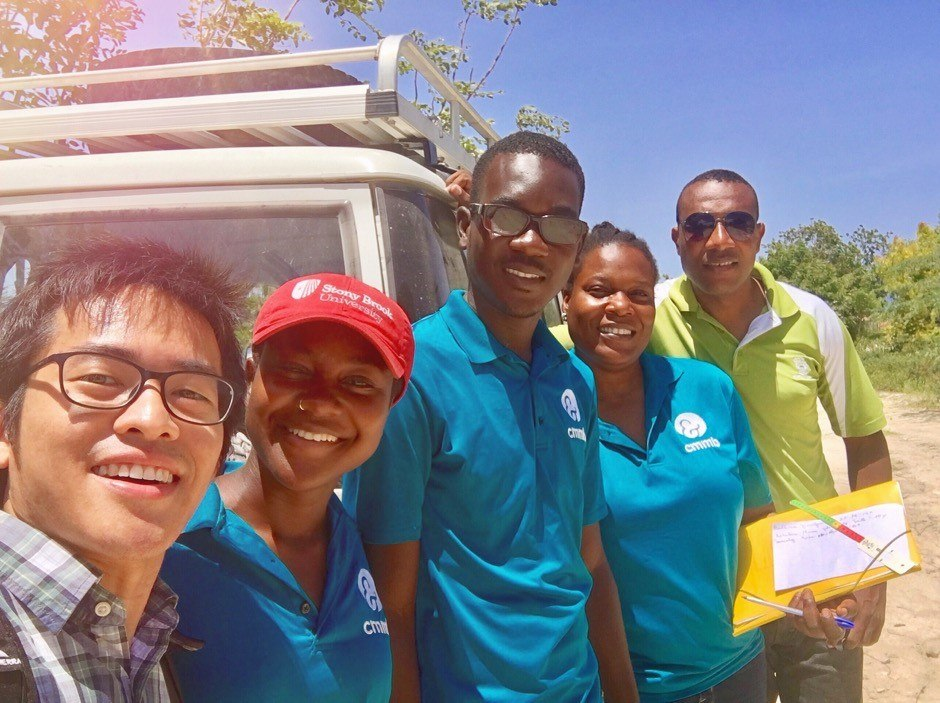 A selfie under the hot sun of volunteers and staff members working together to bring hope to families living in extreme poverty.