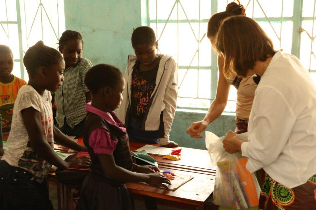 Dr. Helene and Marcia visit the community school to meet the children.