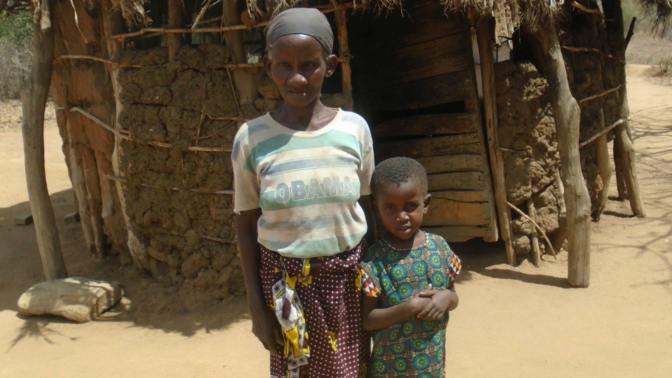 Kalumu with her grandmother