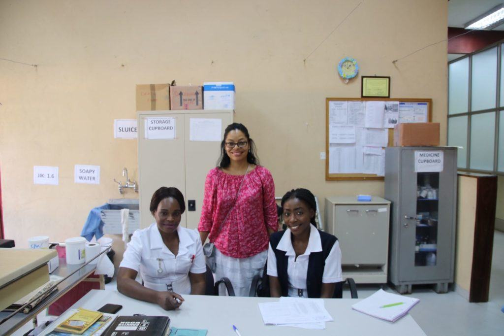 A photo with Dr. Danielle and Mwandi Mission Hospital team