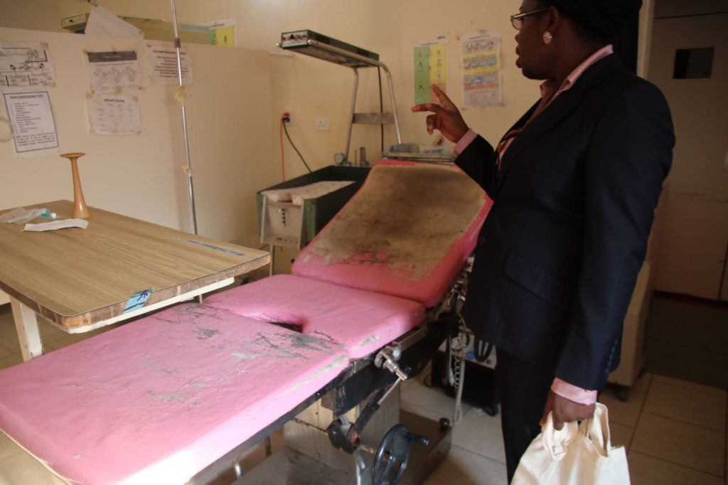Hospital visit shows the issues with missing essential medicine and supplies. This photo shows one of two delivery beds