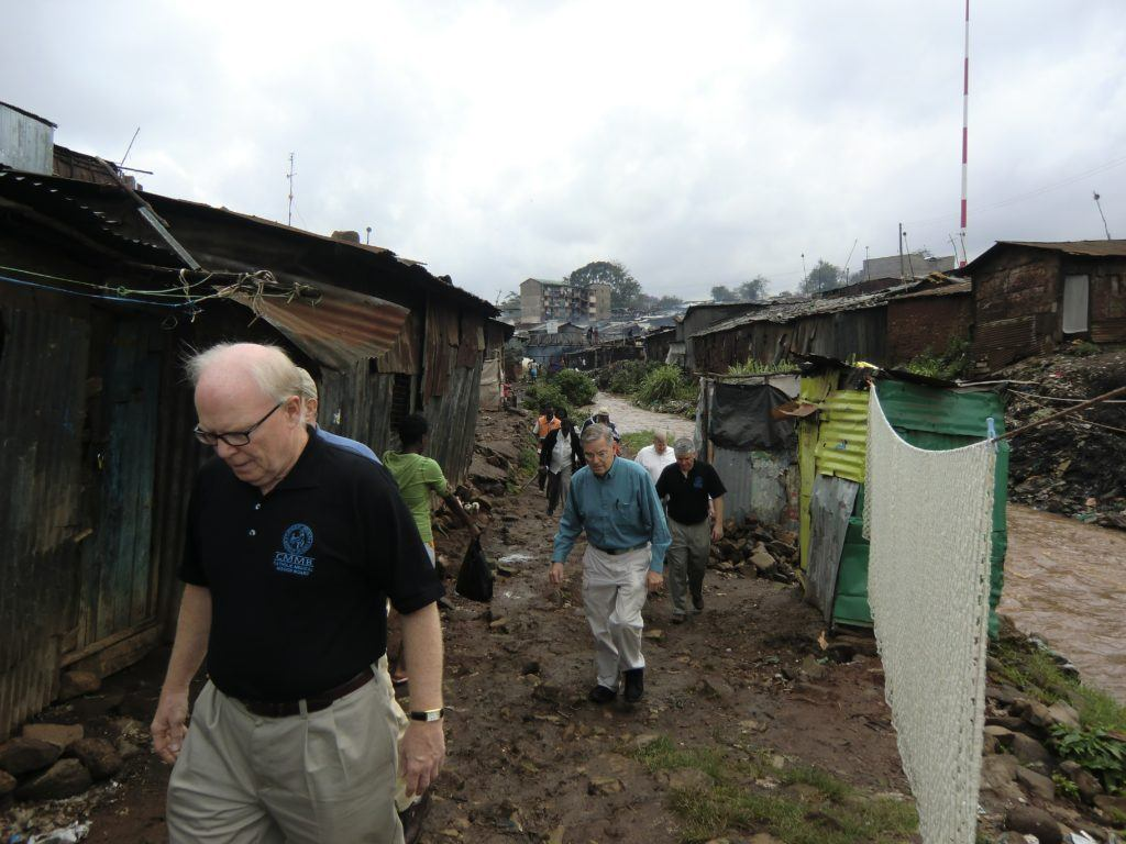 Mike Connelly in the slums of Kenya