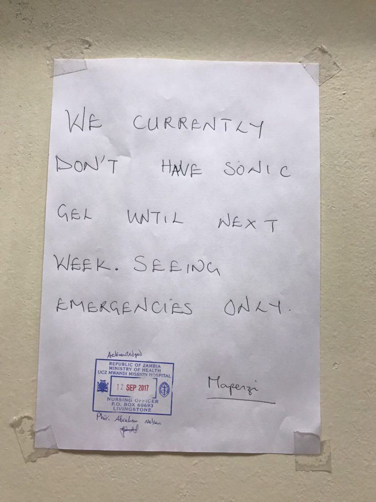 A note about missing stock at Mwandi Mission Hospital