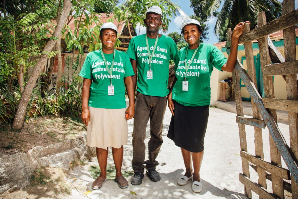 Our team in Haiti are remarkable. These are three of the community health workers.