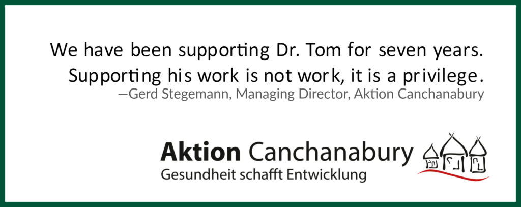 Aktion Canchanabury logo for the Dr. Tom Catena Partnership report piece