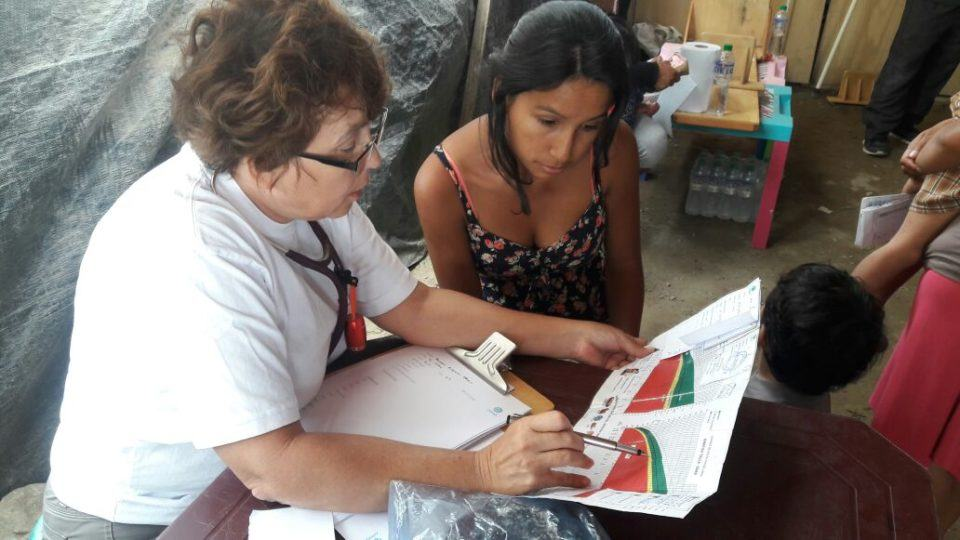 Dr. Coleen Hart is serving in Peru. She started in Trujillo because of the flash floods that needed immediate action.