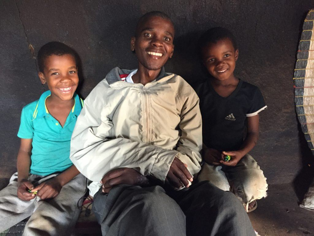Father and sons in Swaziland
