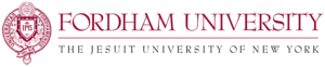Fordham University logo for volunteer publication.
