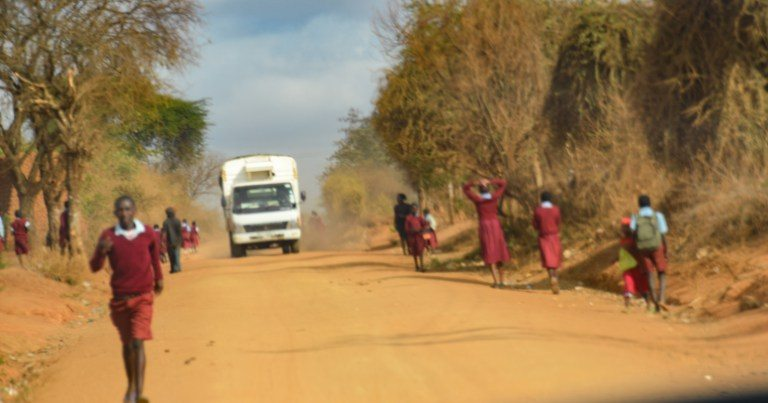 A regular road in Mutomo Kenya. Dr. Fleming volunteer medical doctor ready to serve.